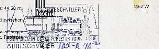 Scan de la flamme de Abreschviller