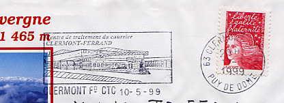 Scan de la flamme de Clermont Ferrand