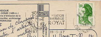 Scan de la flamme de Royat