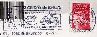 Scan de la flamme de Gildas de Rhuys ( Saint )