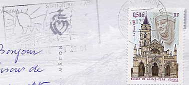 Scan de la flamme de Gilles Croix de Vie ( Saint )