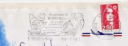Scan de la flamme de Gilles les Bains ( Saint )