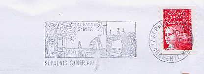 Scan de la flamme de Palais sur Mer ( Saint )