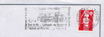 Scan de la flamme de Yrieix la Perche ( Saint )